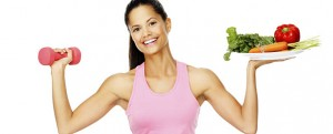 vegetable exercise woman